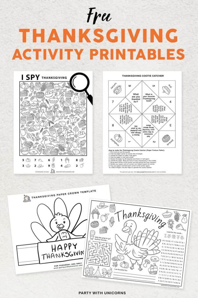Thanksgiving Activity set for kids