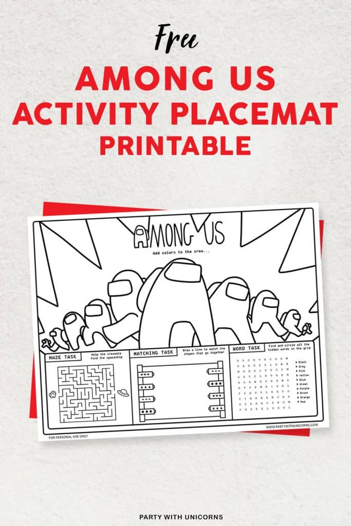 Free Among Us Party Printables