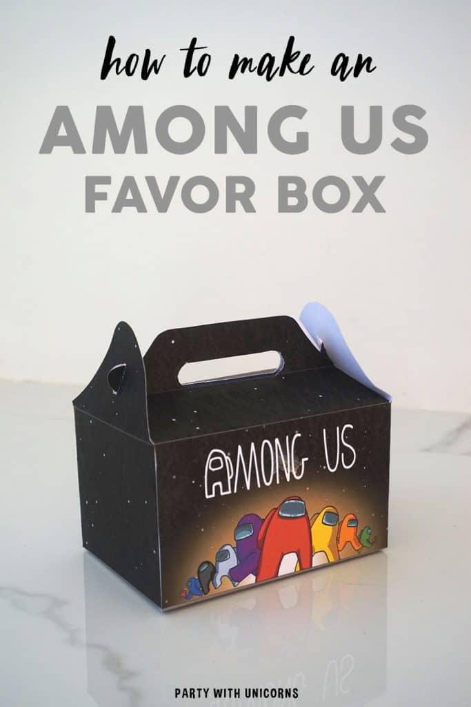DIY Among Us Favor Box Template