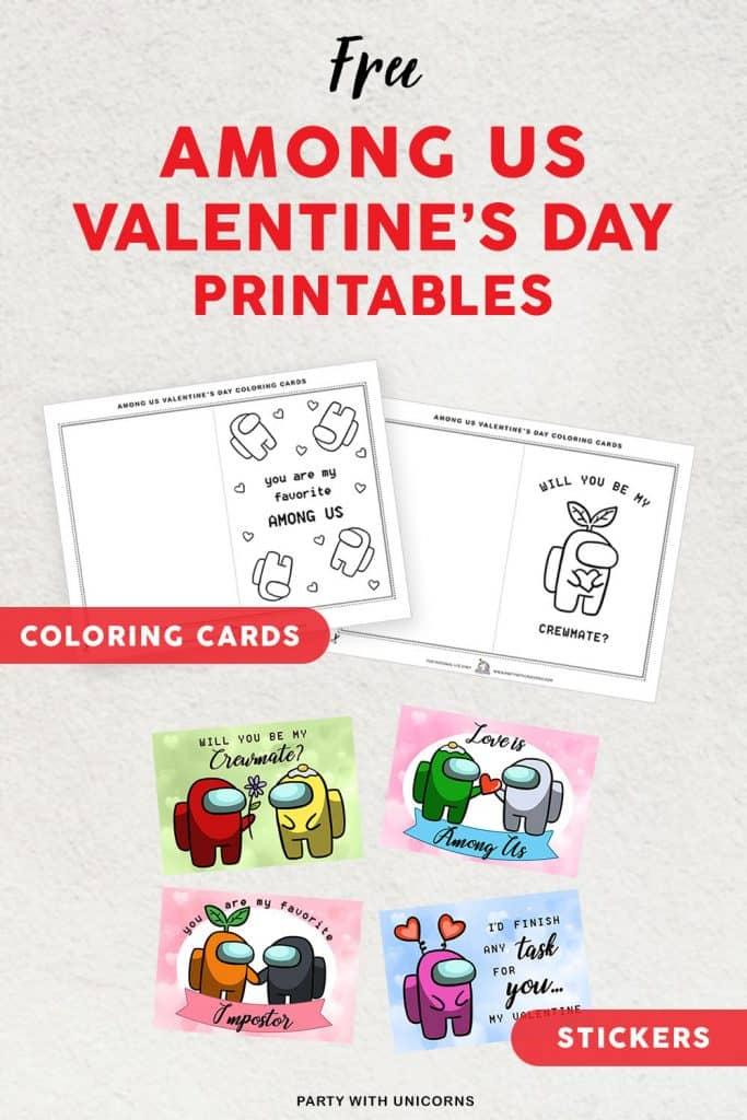 Printable Among Us Valentines