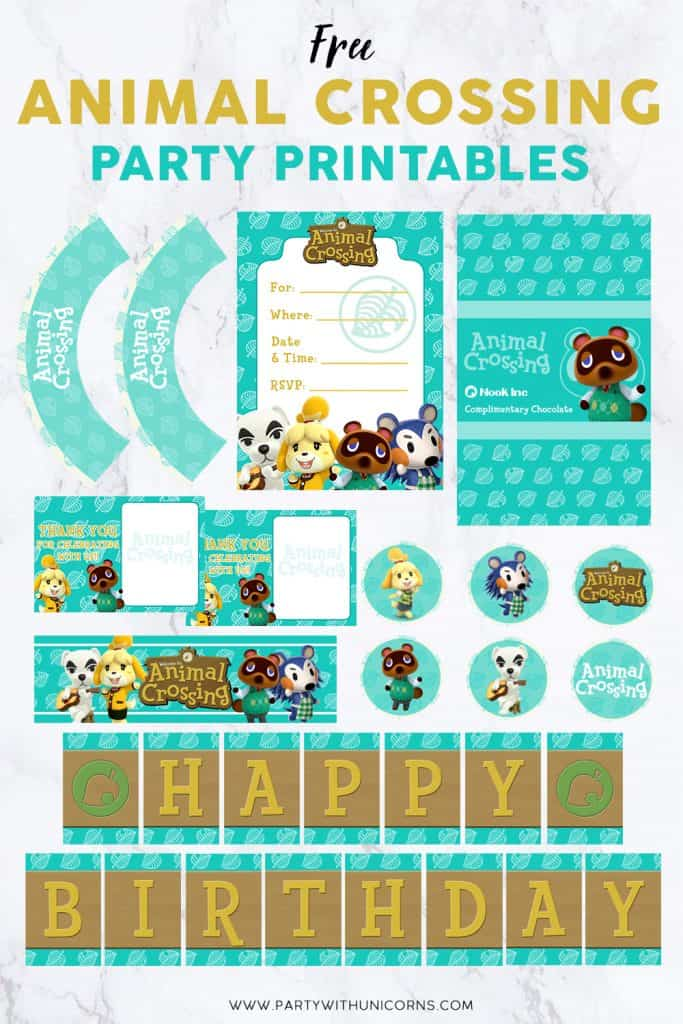 Animal crossing Party Printables