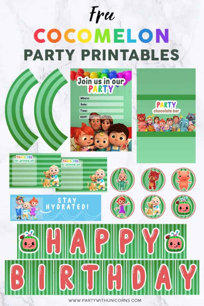 Cocomelon Party printables Set