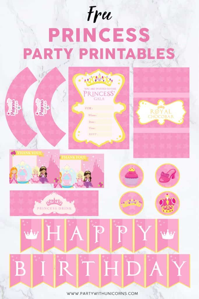 Free Princess Party Printables image