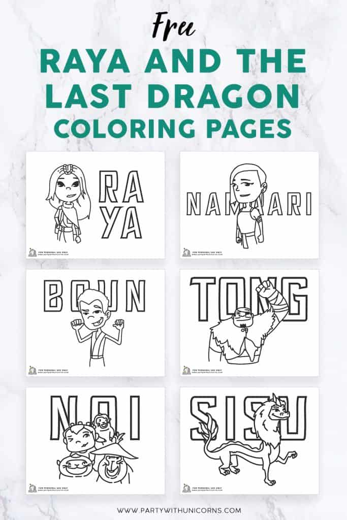 Free Raya and The Last Dragon Coloring Pages image