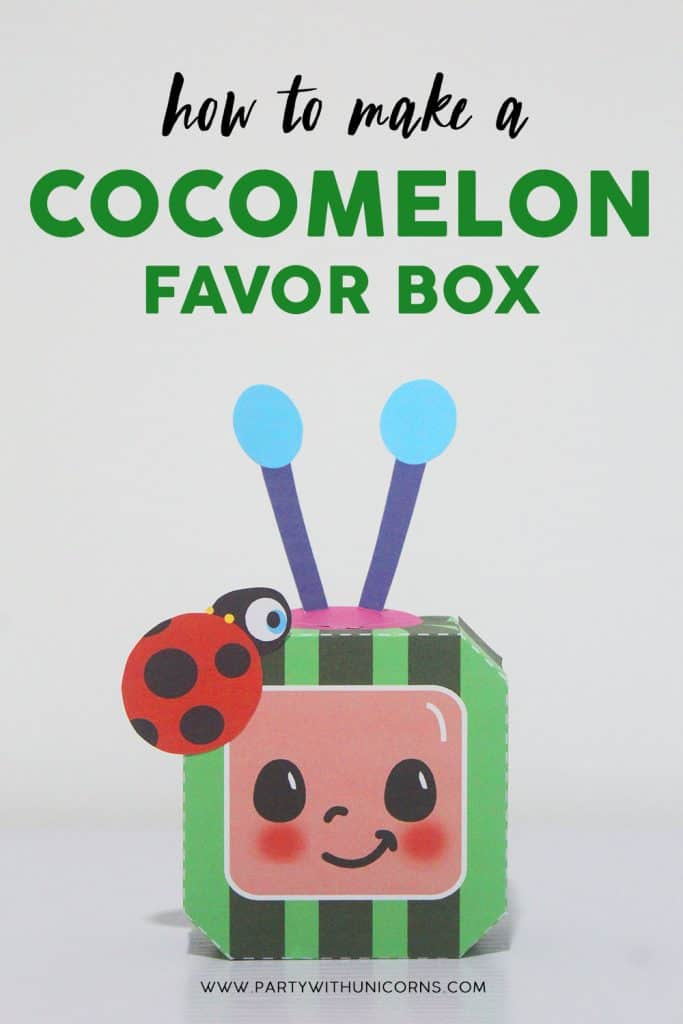 Cocomelon Favor Box