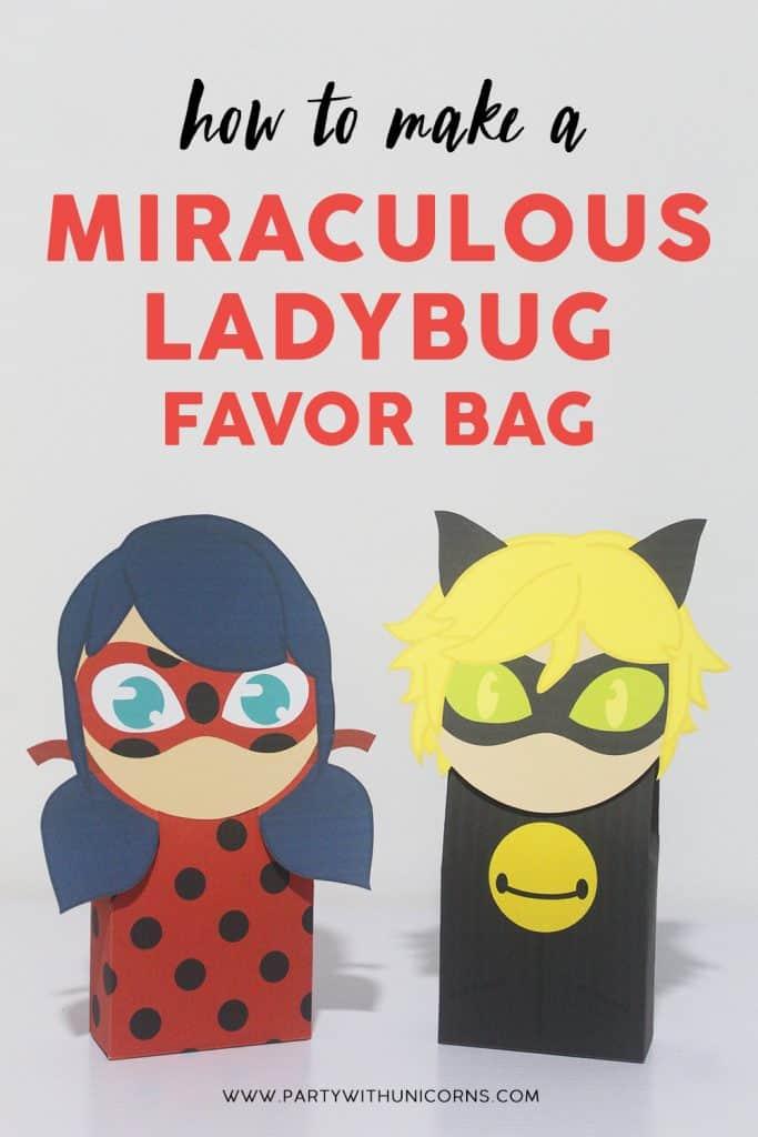 How To Make A Miraculous Ladybug Favor Bag image