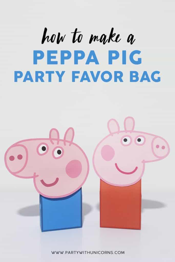 Peppa Pig Favor Bags or Peppa pig Party bags