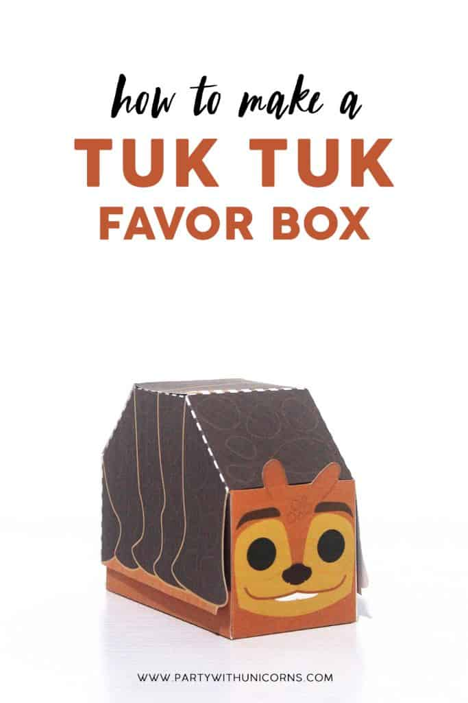 How To Make a Tuk Tuk Favor Box image