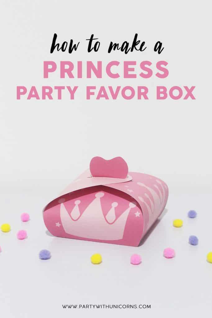How to Make a Princess Party Favor Box image