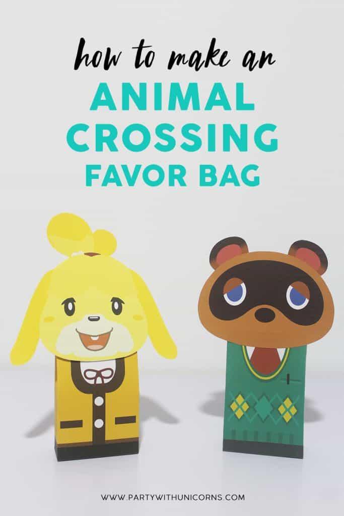 Animal Crossing Favor Bags
