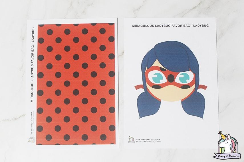 Miraculous Ladybug Favor Bag Step 1 image