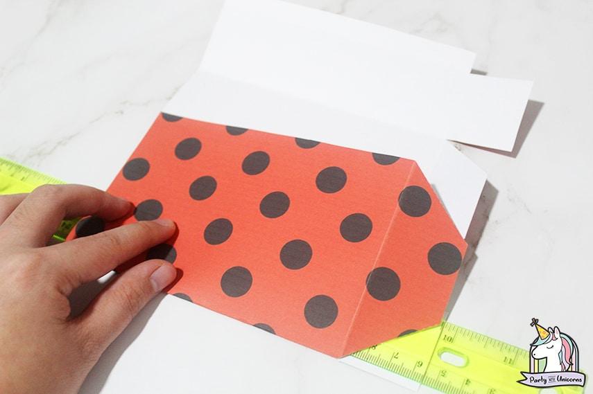 Miraculous Ladybug Favor Bag Step 3 image