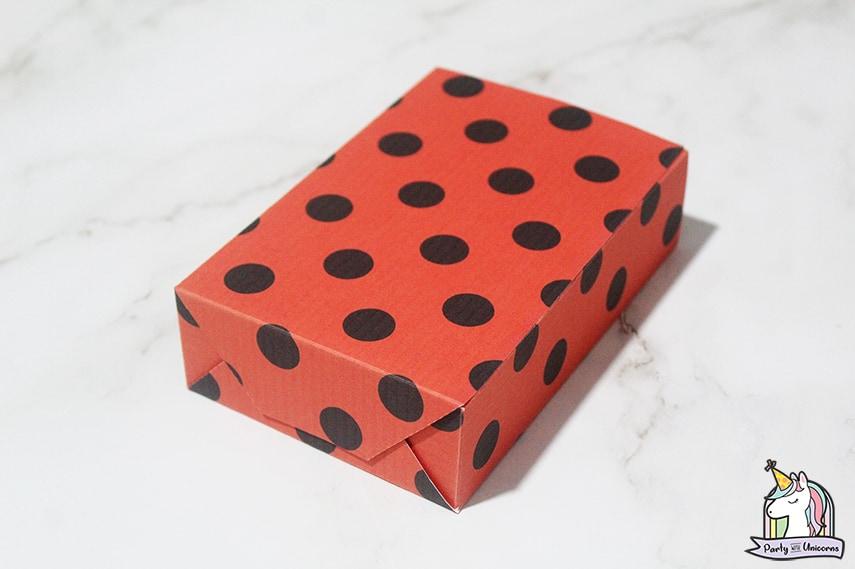 Miraculous Ladybug Favor Bag Step 5 image