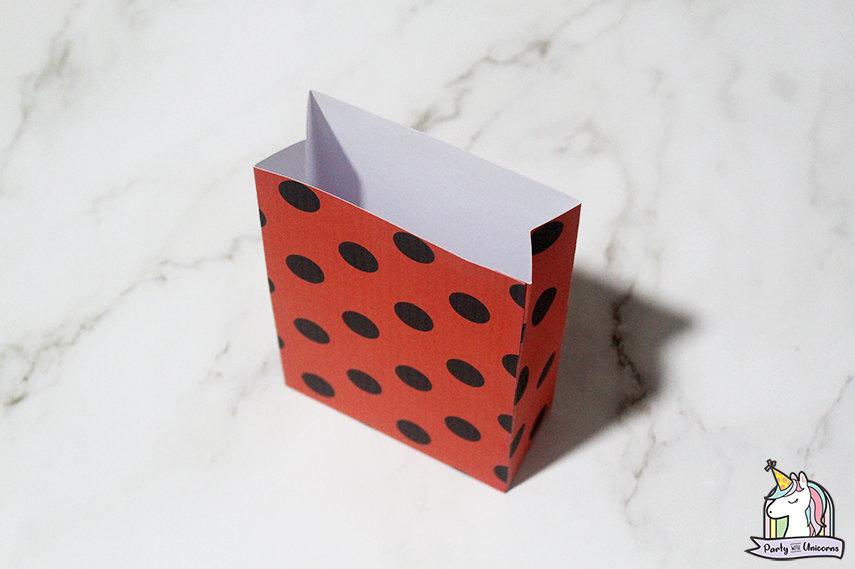 Miraculous Ladybug Favor Bag Step 6 image