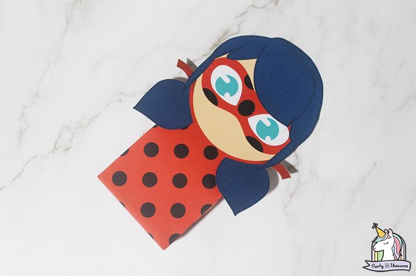 Miraculous Ladybug Favor Bag Step 7 image
