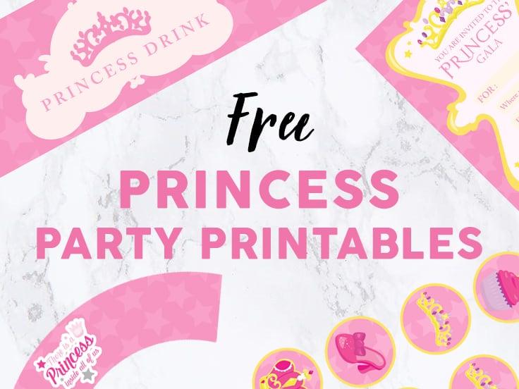 Princess Party Printables image