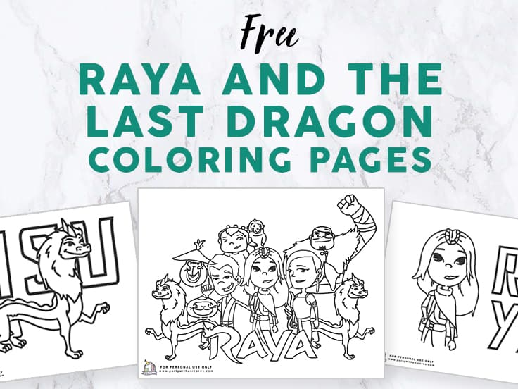 Raya and The Last Dragon Coloring Pages image