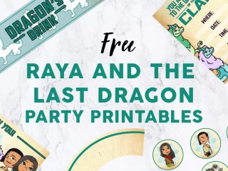 Raya and the Last Dragon Party Featured Image Template - Party Printables image