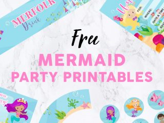 Mermaid Party Featured Image Template - Party Printables banner