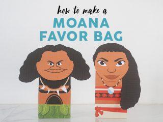 Moana Favor Bag image