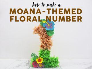 Moana Floral Number Craft image