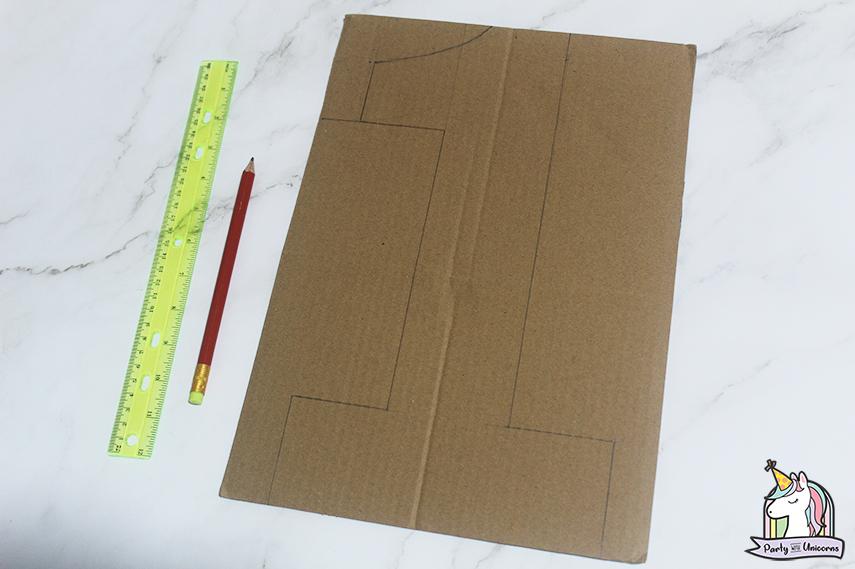 Moana Floral Number Craft Favor Box Step 1 image