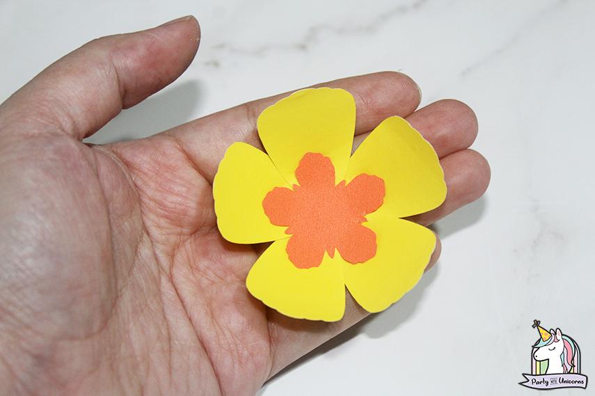 Moana Floral Number Craft Favor Box Step 11 image
