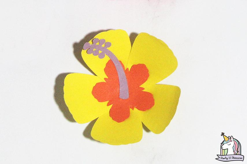 Moana Floral Number Craft Favor Box Step 12 image