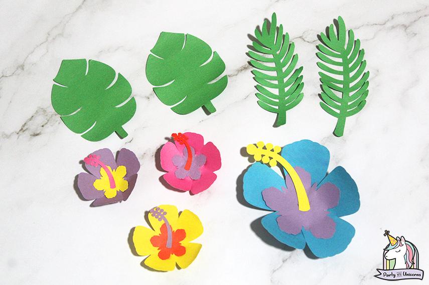 Moana Floral Number Craft Favor Box Step 13 image
