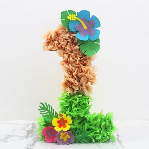 Moana Floral Number Craft Favor Box Step 14 image