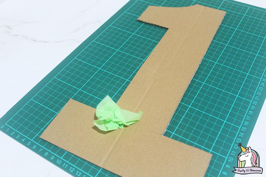 Moana Floral Number Craft Favor Box Step 5 image