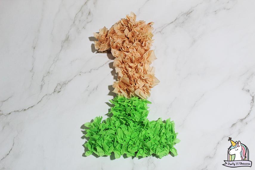 Moana Floral Number Craft Favor Box Step 6 image