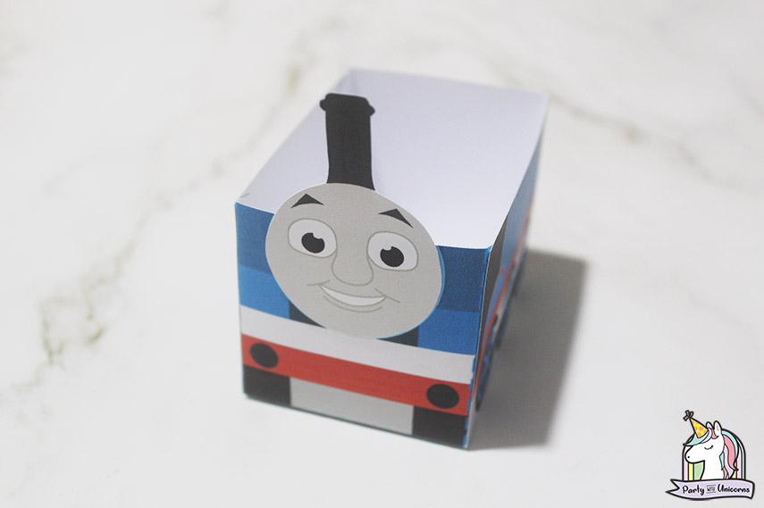 Thomas the Tank Engine Favor Box Step 5 image