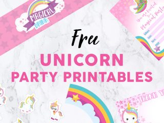Unicorn Party Featured Image - Party Printables image