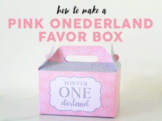 Pink Onederland Favor Box
