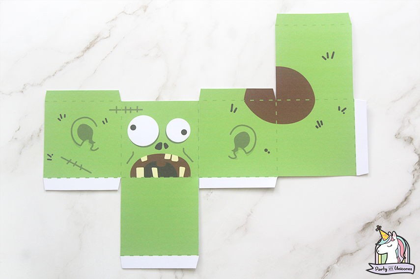 Halloween Favor Boxes instructions