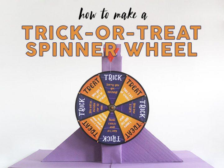 Halloween trick-or-treat Spinning Wheel